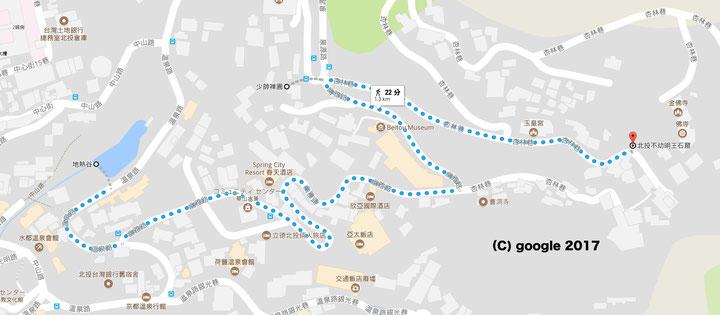 不動明王詣りコース クリックするとgoogle mapにリンクします。