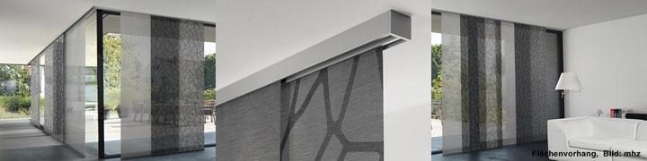 Flächenvorhang, Flächenvorhangschiene, Schiene für Flächenvorhang, moderne Flächenvorhänge, mhz in hessen