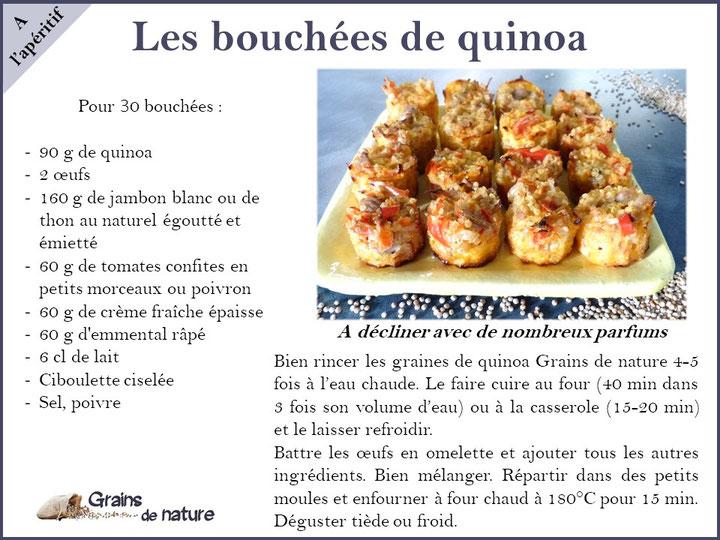 Quinoa revisité en de délicieuses bouchées pour l'apéritif