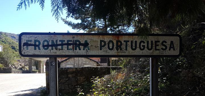 Die Grenze zu Portugal