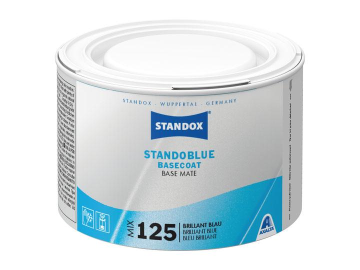 """La nouvelle couche de base Standoblue """"MIX 125 Bleu Brilliant"""" assure une correspondance parfaite des couleurs lors de la réparation de certaines nuances de bleu."""