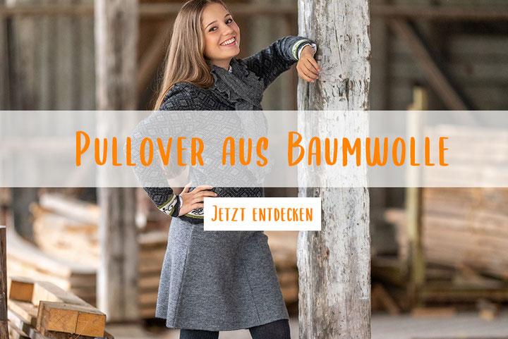 Pullover in Schwarz-Weiß aus Baumwolle