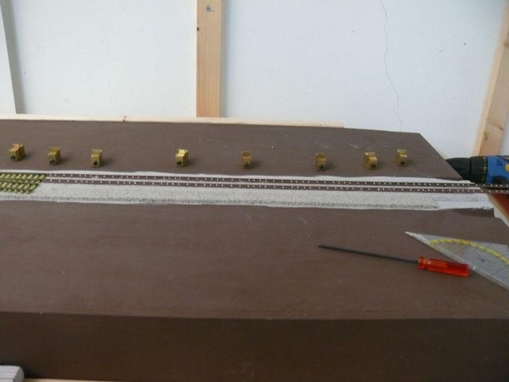 Bild 89: Die fertig eingebauten Schienen.