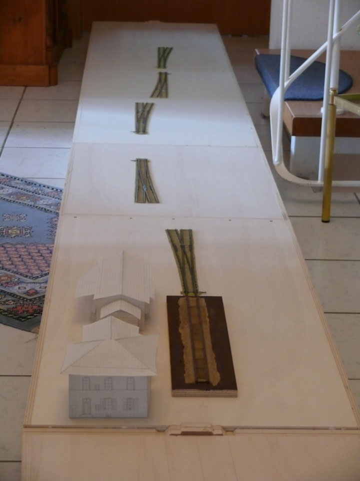 Bild 47: Weichen probeweise ausgelegt