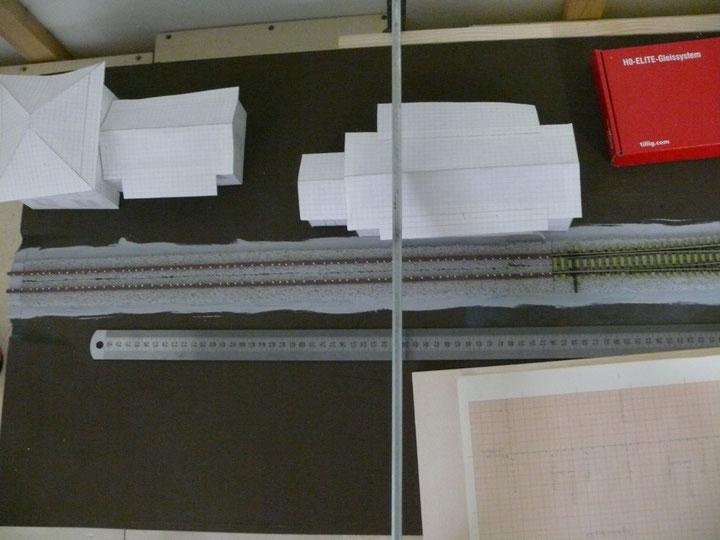 Bild 69: Langschwellen ausgelegt um Punkte für Stromeinspeisung zu ermitteln.