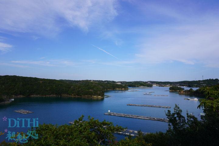 英虞湾と養殖筏