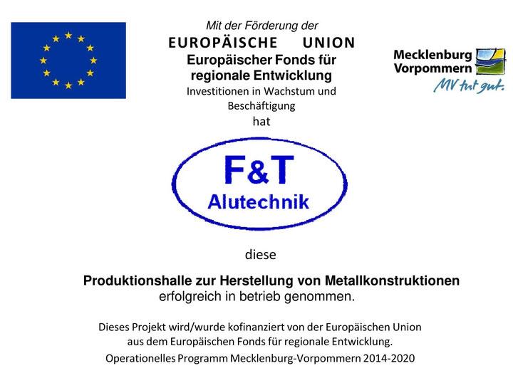 EU-Förderung der Produktionsstätte Ludwigslust