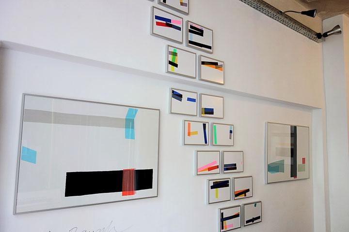 Dirk Rausch_2016 Siebdruckunikate und Aquarelle, in der Galerie SEHR in Koblenz,  Museumsnacht 2016