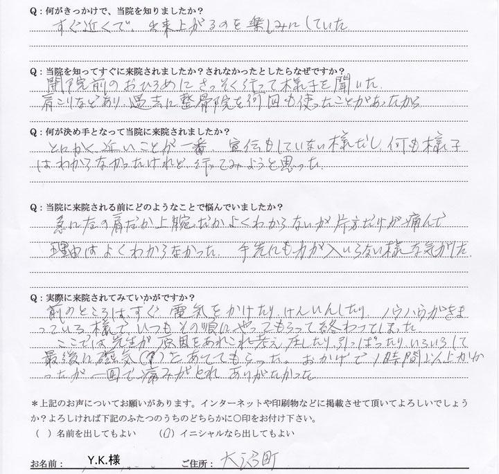 小平市 肩の痛み【4】