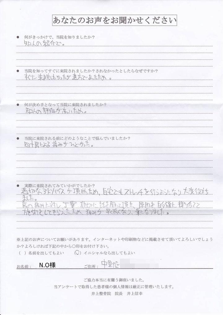 中野区 肩の痛み【23】