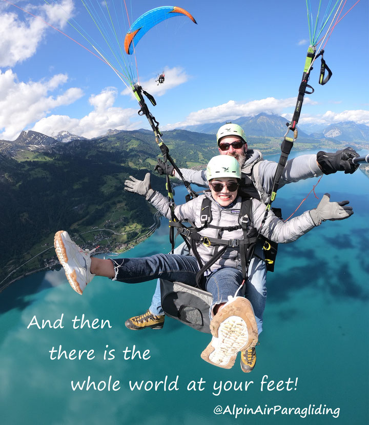 Interlaken paragliding capital of the world