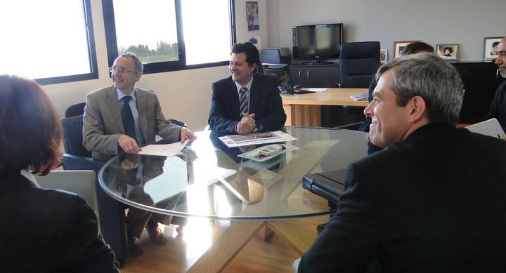 Jean-Luc Nevache au siège de l'entreprise Brandizi Promotion.