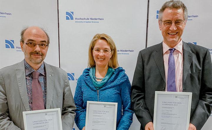Prof. Dr. Michael Borg-Laufs, Prof.in Dr.in Sandra Glammeier, Prof. Dr. Dieter Wälte (Quelle: Hochschule Niederrhein)