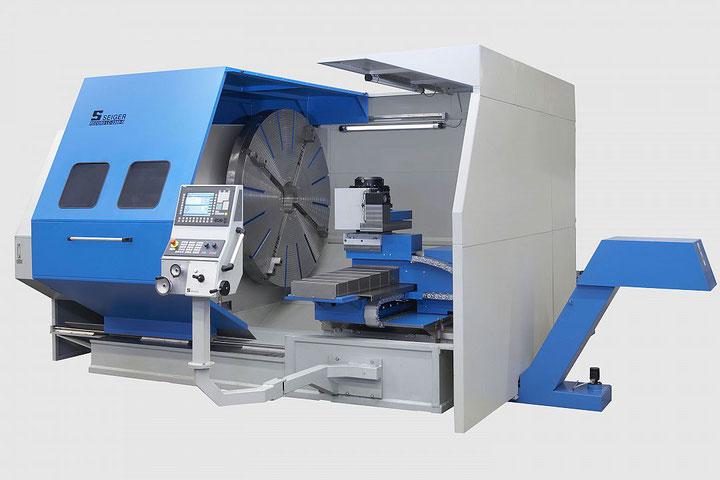 SPL 1400LC / SPL 1400CG  SEIGER Plan-Drehmaschine: Das Platzwunder für die wirtschaftliche Fertigung großer Durchmesser mit geringer Teilelänge