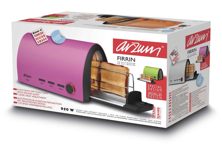 Arzum toaster awarded by European Consumers Choice