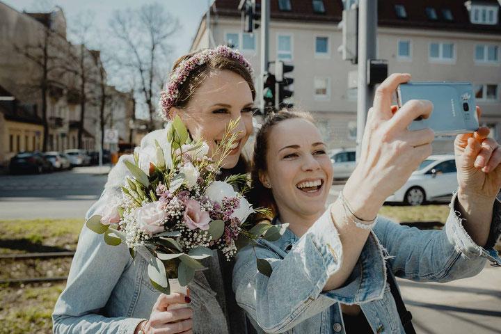 Selby mit der Braut