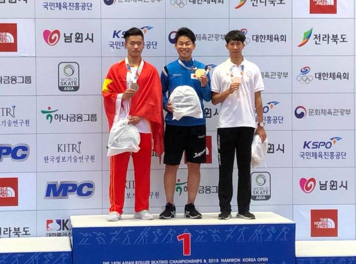 インラインスケートフリースタイル 柴垣匡義選手 金メダル