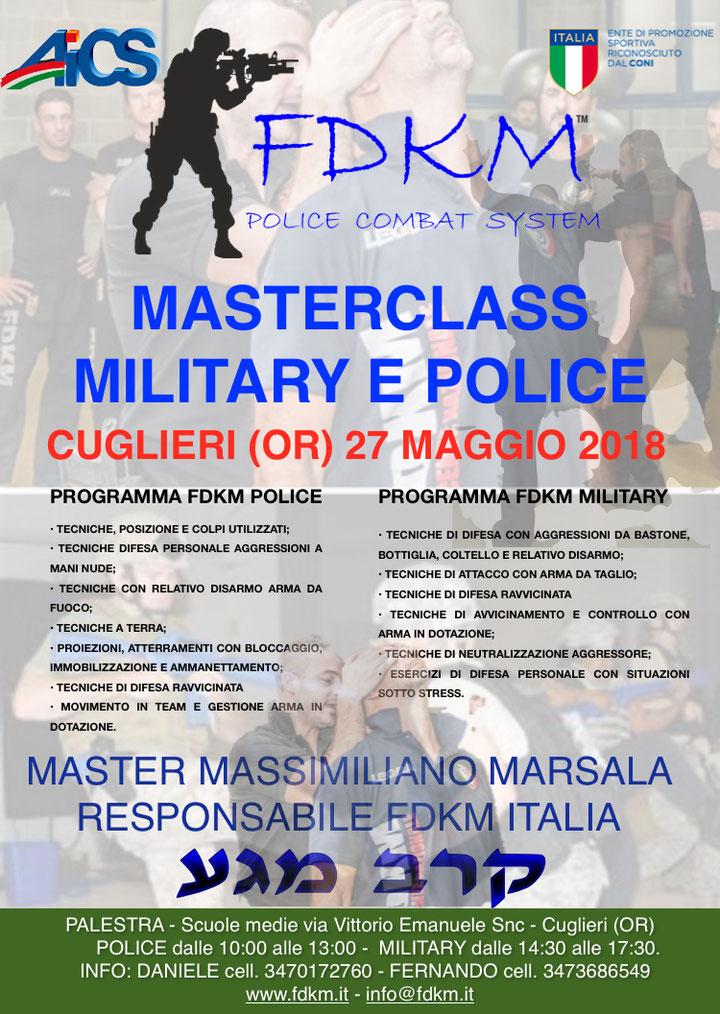 MASTERCLASS MILITARY & POLICE ORISTANO 27 MAGGIO 2018