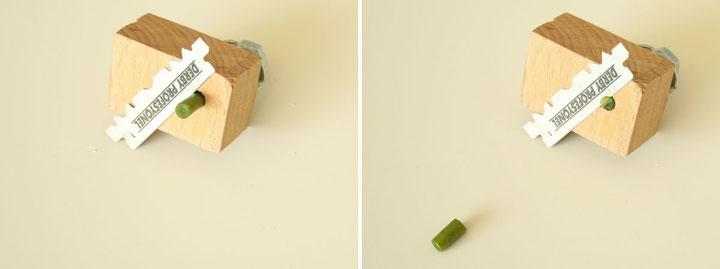 Bildabfolge zur Herstellung eines Stengelquerschnitts mit dem etwas besseren Mikrotom