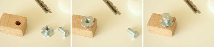 Bildabfolge zur Montage den etwas besseren Mikrotoms