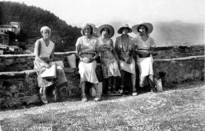 MSI Collection ; 1930s - Portofino, Italy - Mabel is seated second from the right