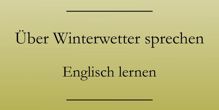 Englisch lernen Vokabeln: Übers Wetter reden. Smalltalk. #englischlernen