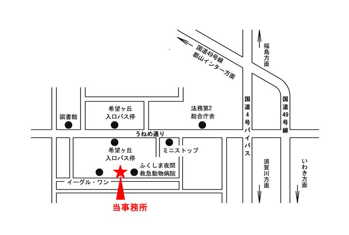 新事務所の案内図