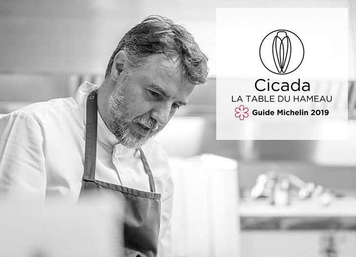 Christophe Chiavola invite Benoit Vidal à Cicada, la Table du Hameau 1 étoile Michelin