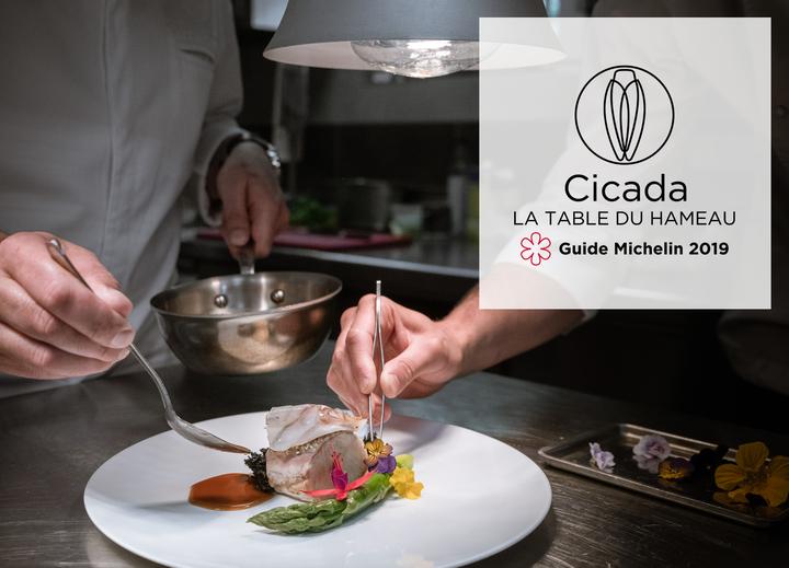 Christophe Chiavola invite Julien Marseault à Cicada, la Table du Hameau 1 étoile Michelin