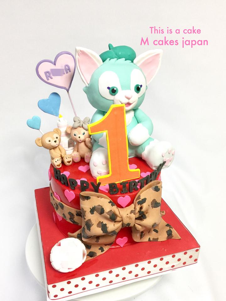 可愛いキャラクターの1stバースデーケーキ✨🎉#ジェラトーニもケーキだよ #1歳誕生日 #はじめて #バースデー #ケーキ #1歳 #ジェラトーニ #ダッフィ #シェリーメイ #sherrymae #jeratoni #duffy #1stbday #cake #fondantcake #fondantfigure #japan #