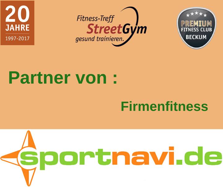 Hansefit Karte.Firmenfitness Mit Sportnavi De Fitnesstreff Streetgym Beckum