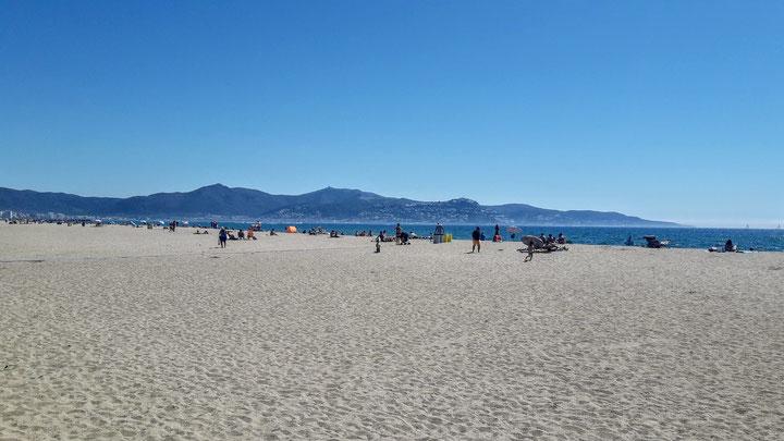Plage, mer chaude, empuriabrava, vacances, costa brava