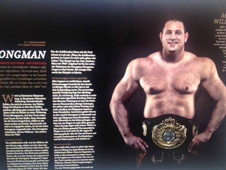 Foto: Martin Wildauer - Strongman, entnommen aus Kufsteinerin - das Magazin / Christian Mey