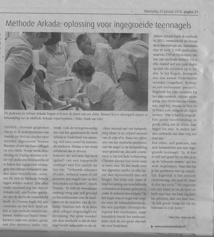 Voor de derde maal werd deze cursus bij Voeten en Welzijn georganiseerd. Geweldig dat steeds meer professionele pedicures deze techniek willen beheersen