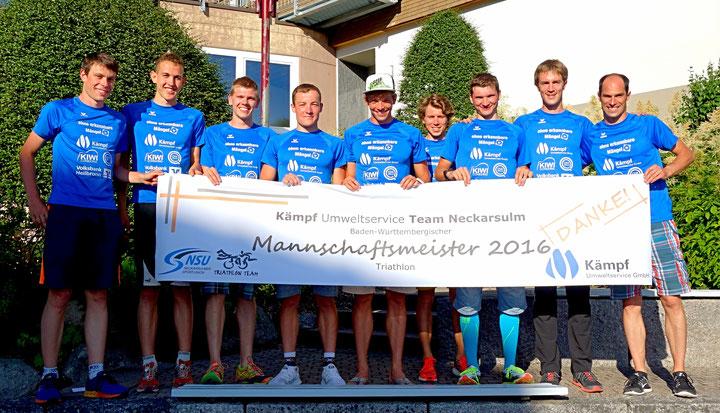 Dominik Sowieja Baden Württembergischer Manschaftsmeister Triathlon