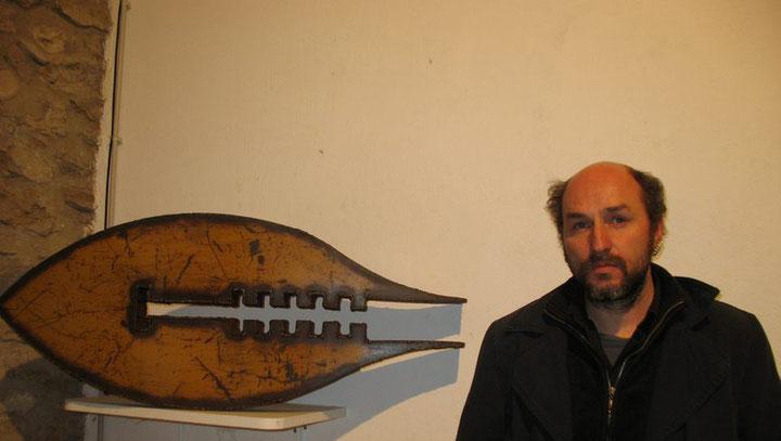 Deev Vanorbeek lors d'une exposition à Lézignan en avril 2011