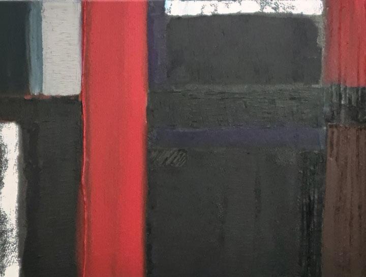 Titel: reflections de Cleremont Ferrand, 65 x 55 cm, Oil on canvas. augustus 2021. VERKOCHT/SOLD
