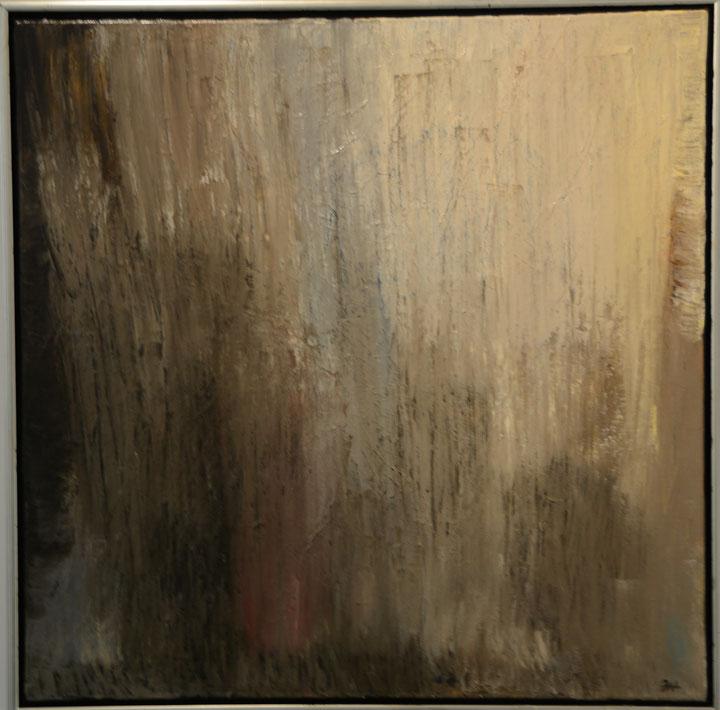 Titel: Playing hide and Seek, 74 x 74 cm, Acryl op Linnendoek. Augustus 2019. VERKOCHT/SOLD tijdens de Nationale Kunstdagen