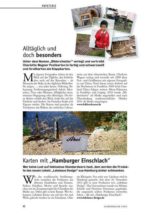 Artikel in der Schreibkultur 01/2013