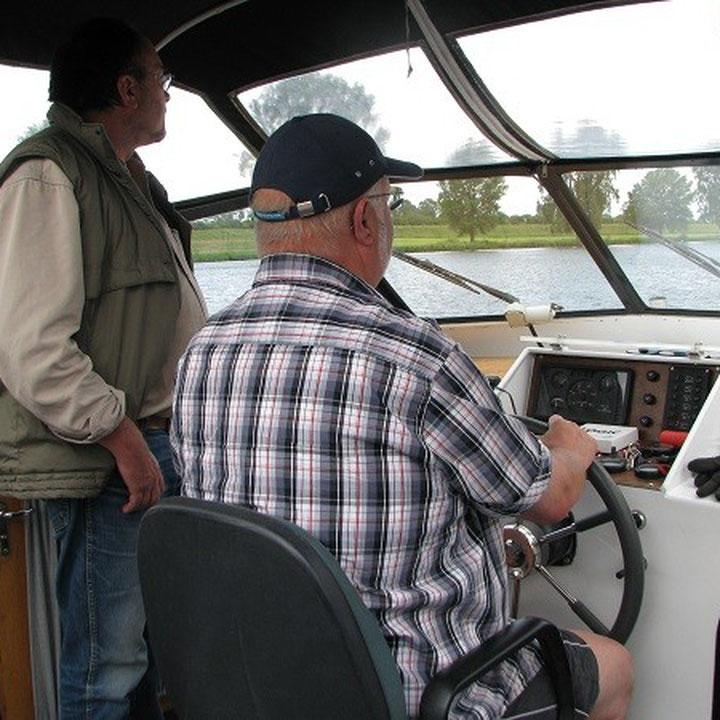 Die beiden Skipper in Aktion.