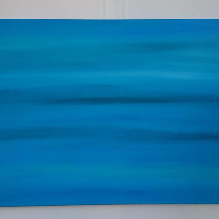 Titel: Remember the sea, 80 x 120 cm, Acryl op katoen, matte finish, juni 2018, Prijs € 475,-