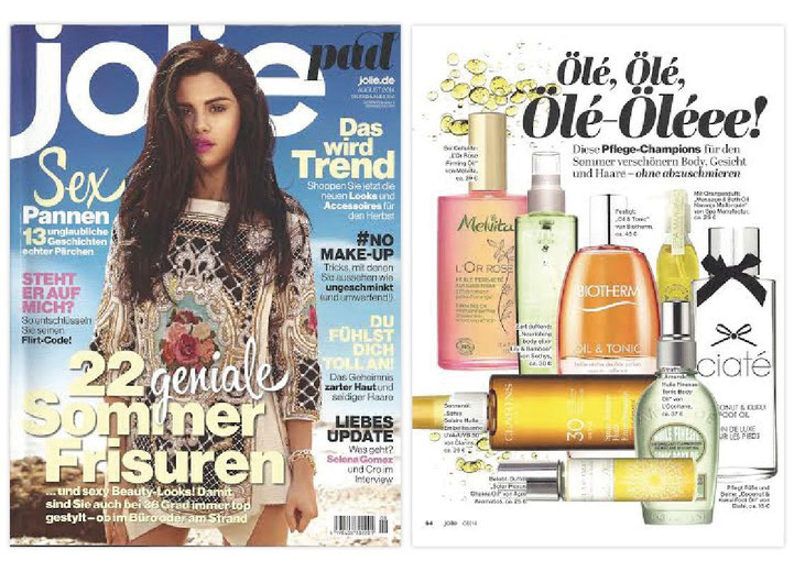 JOLIE AUGUST 2014***Massage & BathOil***NARANJA MALLORQUIN COLLECTION