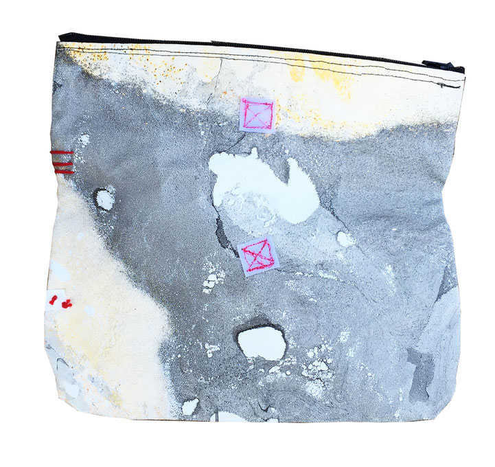 galaxy clutch bag 5 - front opened