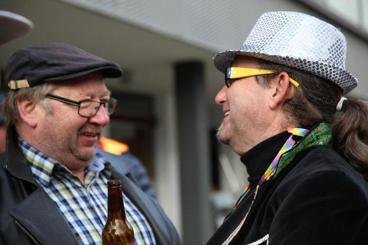 """""""Bühnenbautenminister"""" Manfred Huber und Moderator Walter Widemair planen schon für das nächste Jahr"""
