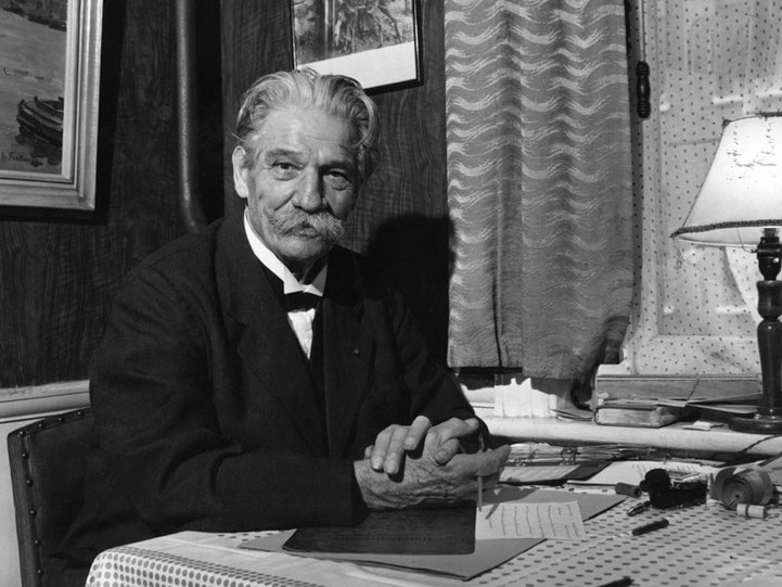 Albert Schweitzer ca. um 1955 in London, © Hulton Archive / Getty Images