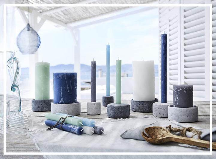 Kerzenhalter OLE und LENA von Engels Kerzen - als Dekorationsidee - sind schicke Wohnaccessoires