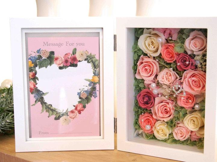プリザーブドフラワー,フォトフレーム,写真立て,花祝電,電報,大きいサイズ,結婚式贈呈プレゼント,2L,豪華アレンジ