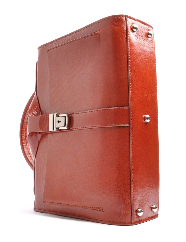 Nostalgische Tasche COLETTE  Leder cognac OSTWALD Traditional Craft