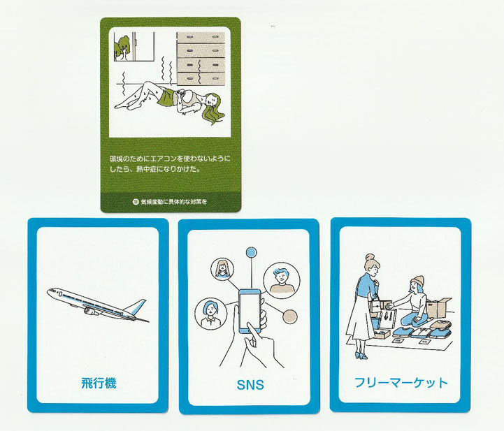 THE SDGsアクションカードゲーム クロスのカード