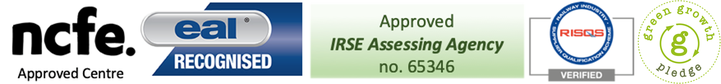 EAL Recognised, Approved IRSE Assessing Agency no. 65346, RISQS Verified, Green Growth Pledge